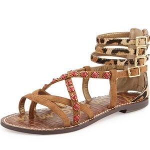 Sam Edelman Grady Embellished sandals nude suede 7.5